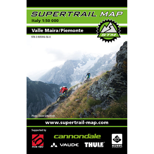 Supertrail Map Valle Maira Piemonte | Backcountry Books