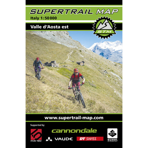 Supertrail Map Valle d'Aosta Est | Backcountry Books