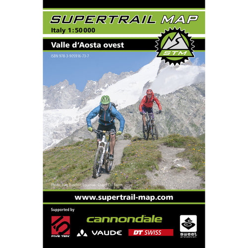 Supertrail Map Valle d'Aosta Ovest | Backcountry Books