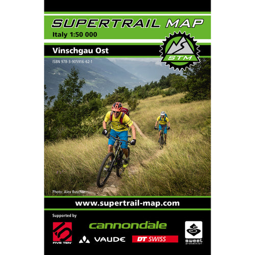 Supertrail Map Vinschgau Ost East Mountain Bike Map | Backcountry Books