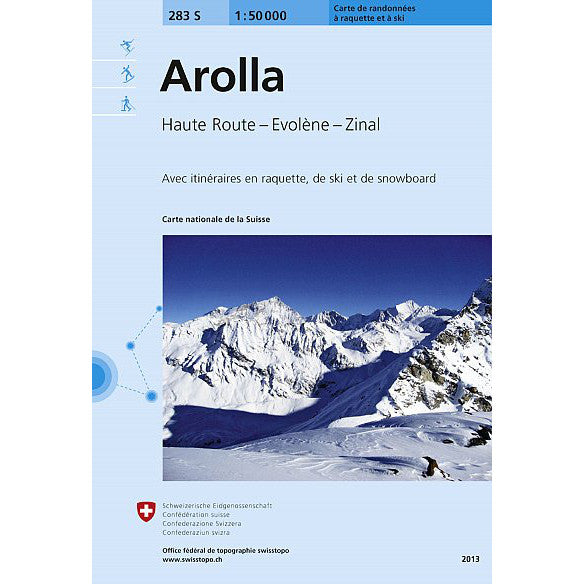 Swisstopo 283s Arolla Ski Map | Backcountry Books