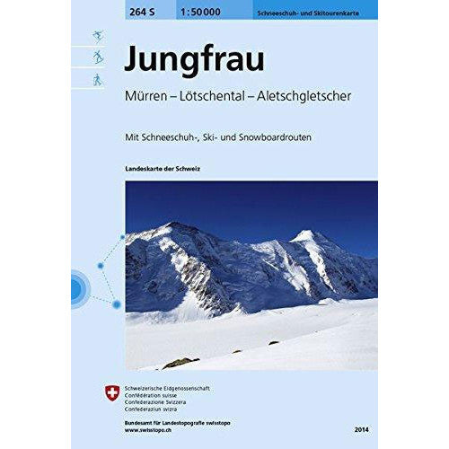 Swisstopo 264S Jungfrau Ski Map | Backcountry Books