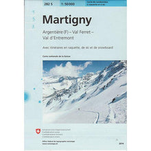 Swisstopo 282S Ski Map Martigny | Backcountry Books