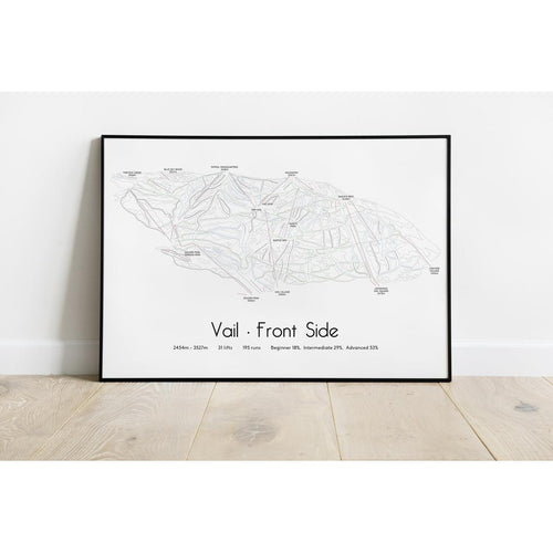 Vail Piste Map Wall Print Poster | Backcountry Books