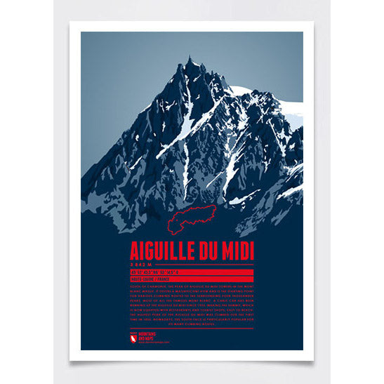 Aiguille du Midi Wall Print Poster | Marmota Maps | Backcountry Books