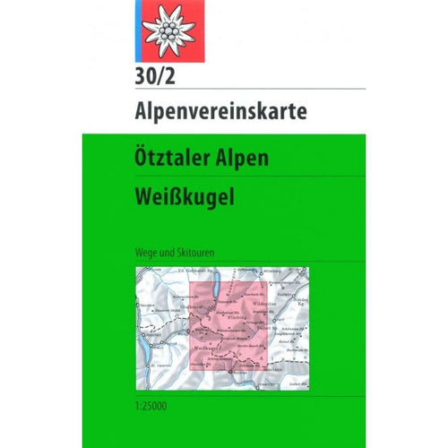 Ötztal Ski Touring Map | Alpenvereinskarte 30/2 Ötztaler Alpen Weisskugel | Backcountry Books