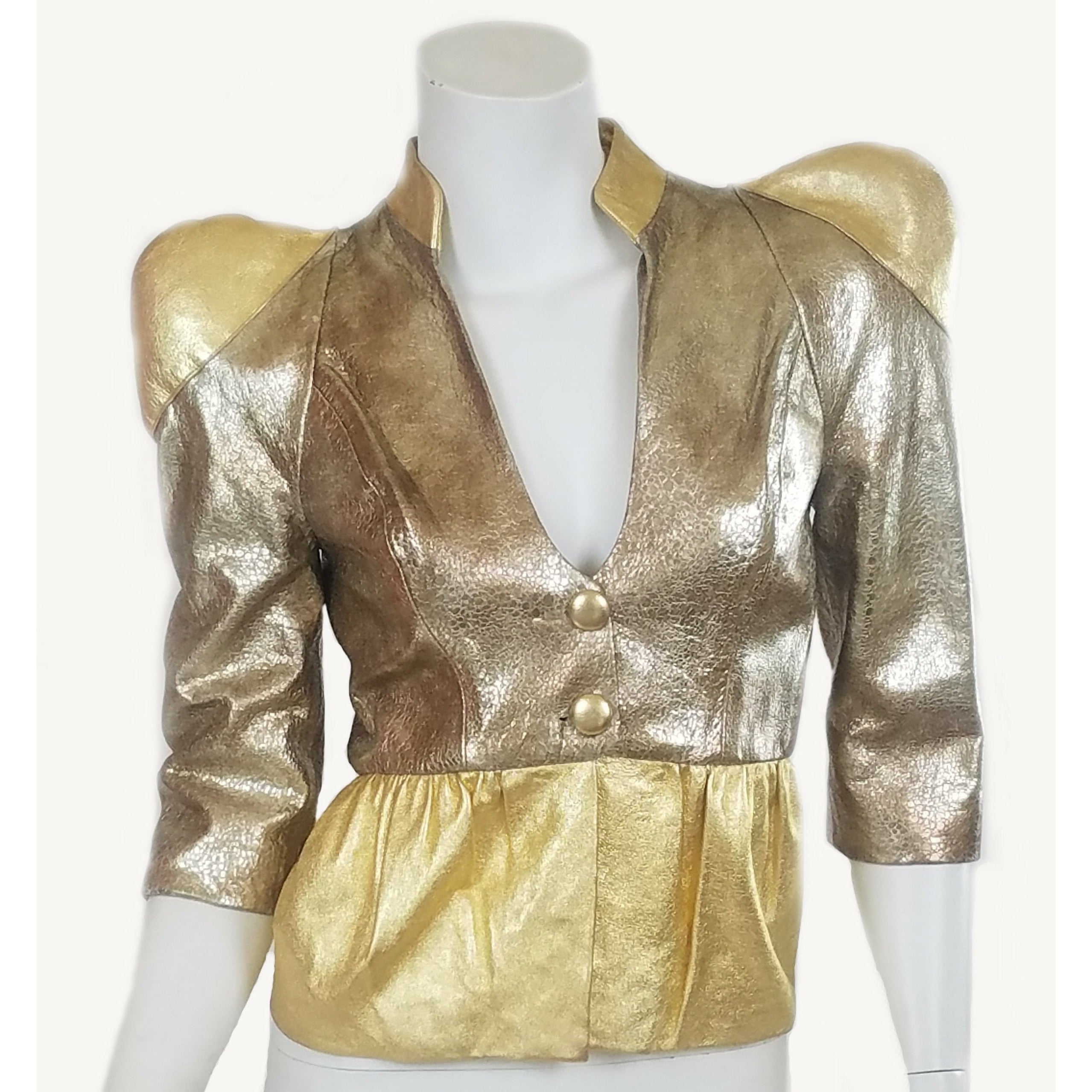 f74c3b351 Solid Gold Leather Jacket