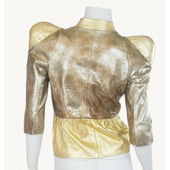 Solid Gold Leather Jacket