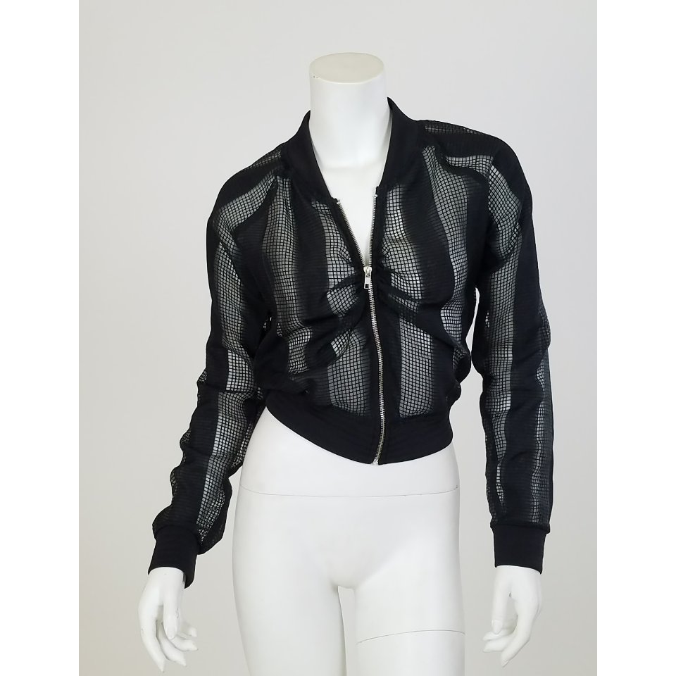 Eva Sheer Bomber Jacket
