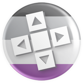 Asexual Flag - D-PAD Button