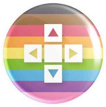 LGBTQ2S+ Flag - D-Pad Button