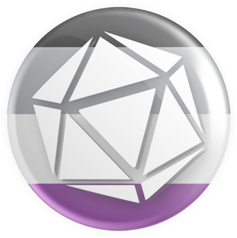 Asexual Flag - D20 Button