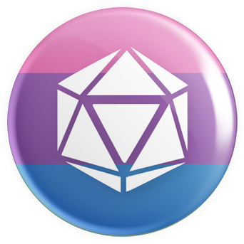 Bisexual Flag - D20 Button