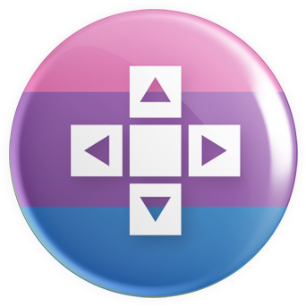 Bisexual Flag - D-Pad Button