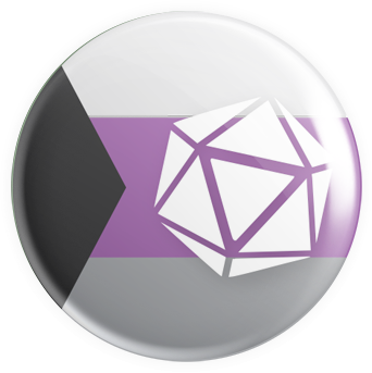 Demisexual - D20 Button