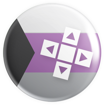 Demisexual Flag - D-Pad Button