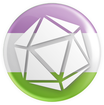 Genderqueer - D20 Button