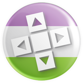 Genderqueer Flag - D-Pad Button