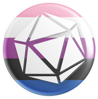 Gender Fluid - D20 Button