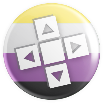 Nonbinary Flag - D-Pad Button