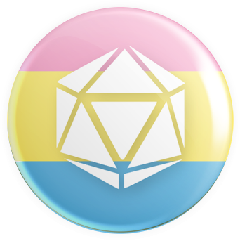 Pansexual Flag - D20 Button