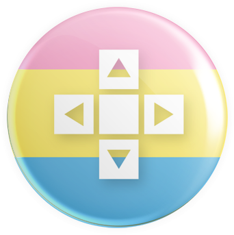 Pansexual Flag - D-Pad Button