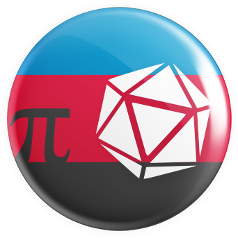 Polyamoury Flag - D20 Button