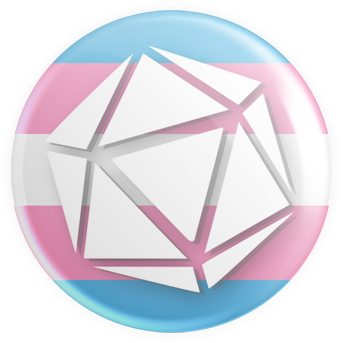 Transgender Flag - D20 Button