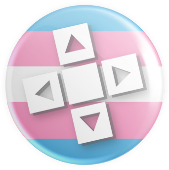 Transgender Flag - D-Pad Button