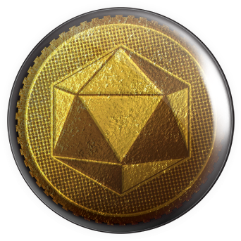 Gold Die Button