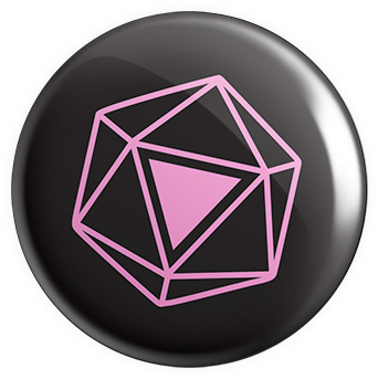 d20 Pink Triangle Button