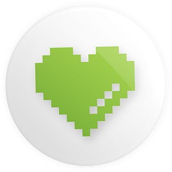 Logo Icon - Heart Button