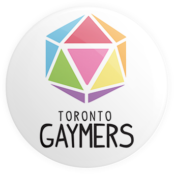 Toronto Gaymers D20 Button