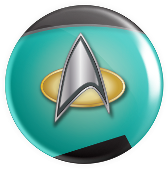 Space Emblems - TNG Teal Button