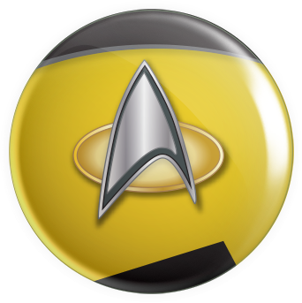 Space Emblems - TNG Yellow Button
