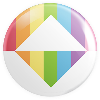 Triangular Pride Button