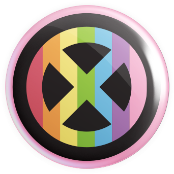 X-Gays Button