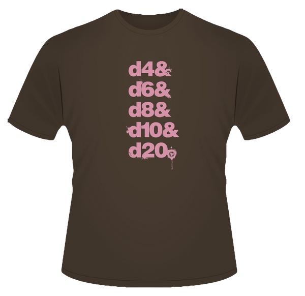 Dice List T-Shirt (Limited Short List)
