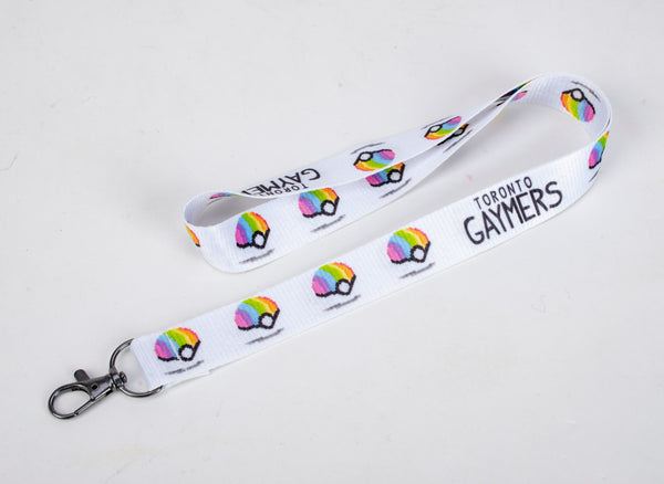 PoGayBall Lanyard in White