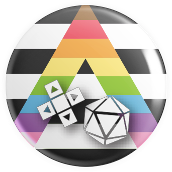 Ally Flag Gaymer Button