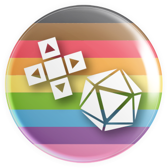 LGBTQ2S+ Flag Gaymer Button