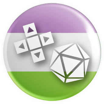 Genderqueer Flag Gaymer Button