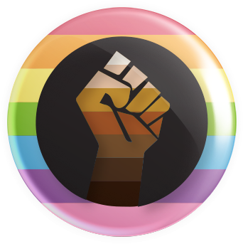 Inclusive BIPOC Pride Button