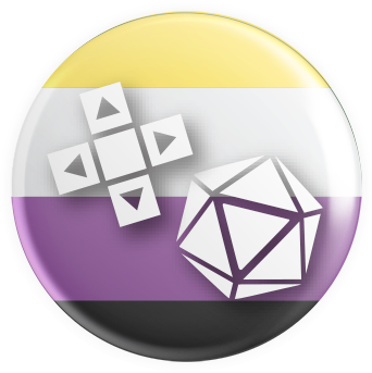 Nonbinary Flag Gaymer Button