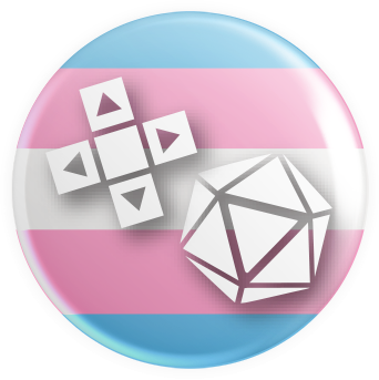 Transgender Flag Gaymer Button
