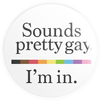 Sounds Gay Button