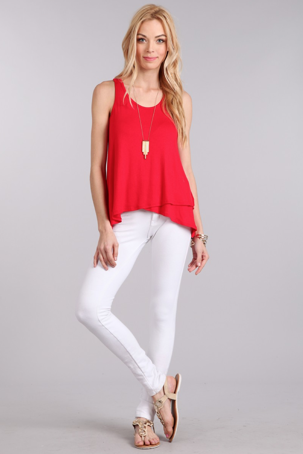 Red Relaxed Tank