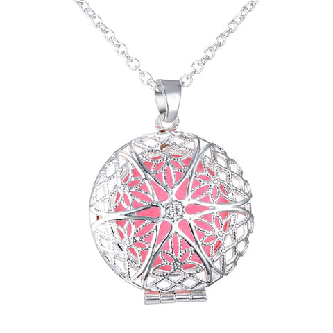 Round hollowed out star shaped aromatherapy pendant necklace round hollowed out star shaped aromatherapy pendant necklace mozeypictures Choice Image