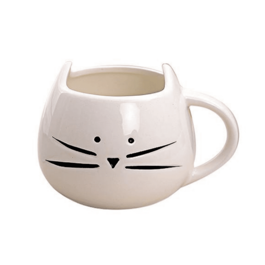 Milk and Whiskers Cat Mug