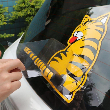 Cat Windshield Wiper Decal